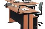 Meja Kantor Gold Series Warna Cherry-2