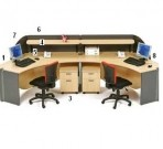 Meja Resepsionis HighPoint Nine Series Oxford Workstation-1