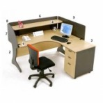 Meja Resepsionis HighPoint Nine Series Oxford Workstation-2