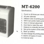Mesin Absen Comix MT – 6200
