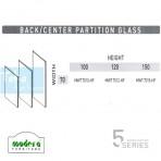 Modera 5 Workstation Back & Center Partition Glass