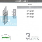 Modera 3 Workstation Curve Fabric