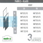 Modera 3 Workstation Full Fabric + Glass Part