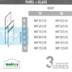 Modera 3 Workstation Full Panel + Glass Part