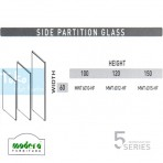 Modera 5 Workstation Side Partition Glass