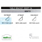 Modera 5 Workstation Table Bracket Deept 36