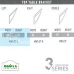 Modera 3 Workstasion Top Table Bracket