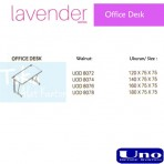 Uno Lavender Series Office Desk UOD 8076