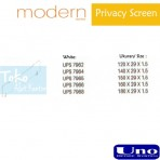 Uno Modern Series Privacy Screen UPS 7962