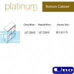 Uno Platinum Series Bottom Cabinet UST 2354 B, UST 2364 B