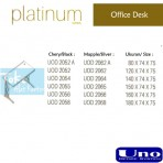 Uno Platinum Series Office Desk UOD 2056
