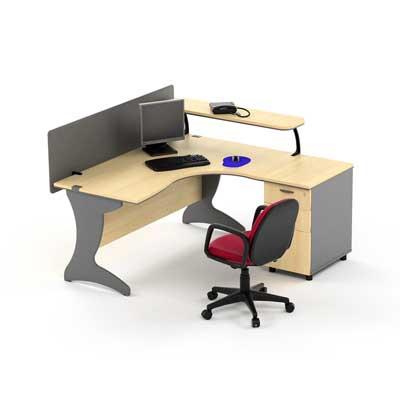 Meja Kantor HighPoint Nine Series Oxford Workstation 2