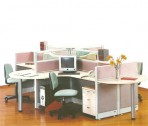Partisi Kantor Uno 4 Staff Configuration
