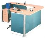 Partisi Kantor Uno Receptionist Configuration