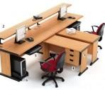 Meja Kantor HighPoint Five Series Cherry Workstation-4