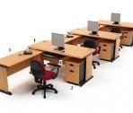 Meja Kantor HighPoint Five Series Cherry Workstation-6